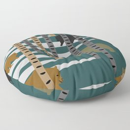 Bears walking in the forest Floor Pillow