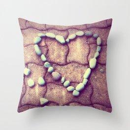 Heart  - JUSTART © Throw Pillow