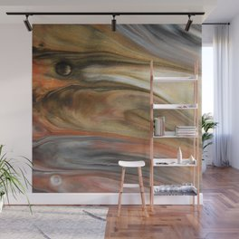 Fluid Nature - Metallic Flows - Abstract Acrylic Art Wall Mural