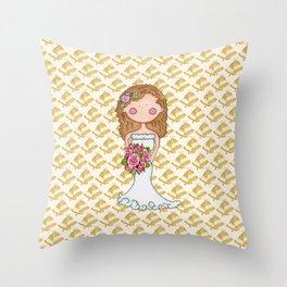 Wedding Bell Bride Throw Pillow