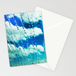 444 - Raindrops on glass Stationery Cards