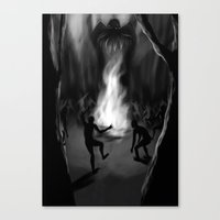 cthulhu Canvas Prints featuring Cthulhu by Guilherme Garcia