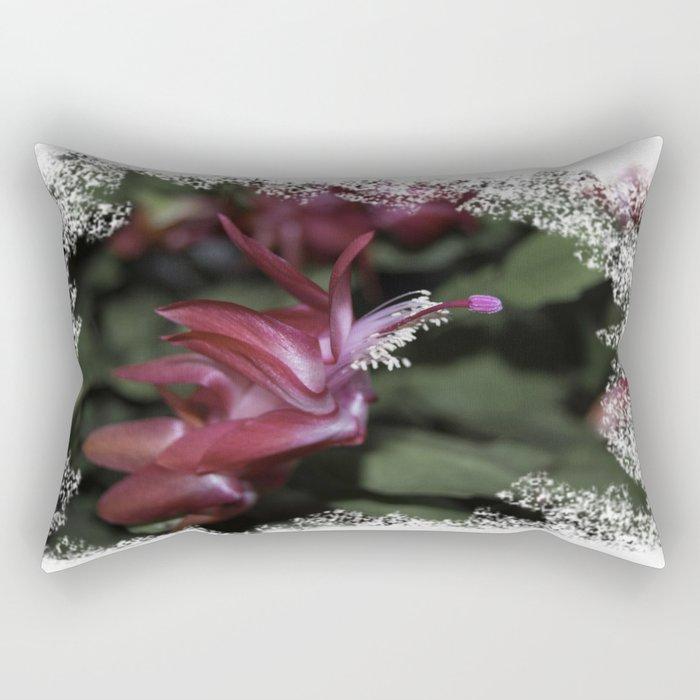 Christmas Cactus Rectangular Pillow