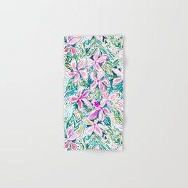 PLUMERIA PARADISE Tropical Floral Hand & Bath Towel