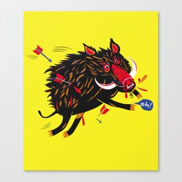 The wounded wild boar Canvas Print