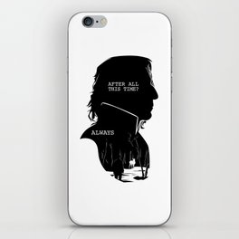Snape - Quote Silhouette iPhone Skin
