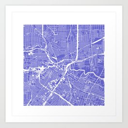Houston City Map Art Art Print