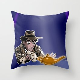 Raiders Of The Lost Lamp Throw Pillow