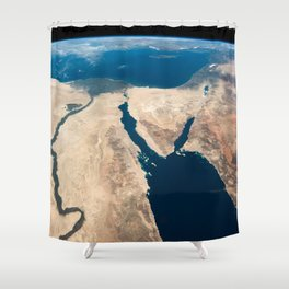 The Nile and the Sinai, to Israel and beyond. One sweeping glance of human history Shower Curtain