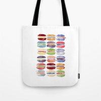 macaron Tote Bags featuring Macaron by Marta Li
