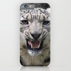Angry snow leopard iPhone 6s Slim Case
