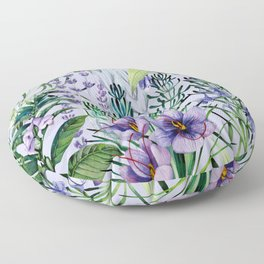 Watrolor hebs Floor Pillow