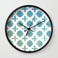 monogram Wall Clocks featuring Monogram by Chilligraphy