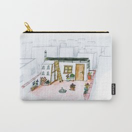 The little girl in orange. The  dovecote Carry-All Pouch