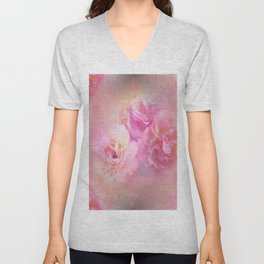 Baroque Painted Roses Unisex V-Neck