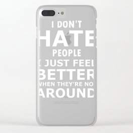 Introvert Social Anxiety Quote Design Clear iPhone Case