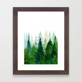 Pine Trees 2 Framed Art Print