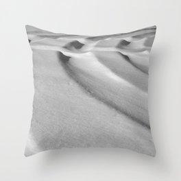Snow Tracks Throw Pillow