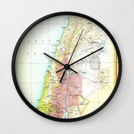 Old 1020BC Saul Palestine Map Wall Clock