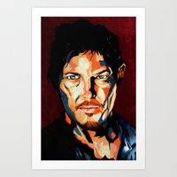 daryl Art Prints featuring Daryl by SweetAshArts