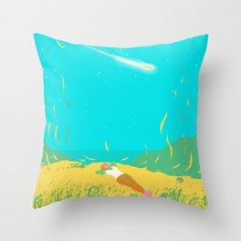 COMET GAZING Throw Pillow