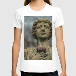 Stone Woman holding a flower T-shirt