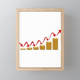 Rising Money Steps Framed Mini Art Print