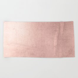 Blush Rose Gold Ombre Beach Towel