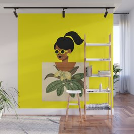 Ponytail Girl with Nature Shirt Wall Mural