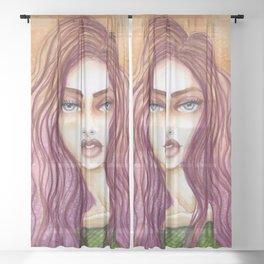 Original Watercolor Illustration by Jenny Manno Art/kara Sheer Curtain