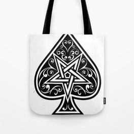 Ace of Spades Pentagram Star, Fun Gift Idea Design Tote Bag