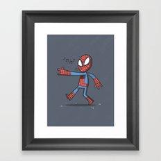 Spidey Walking Framed Art Print
