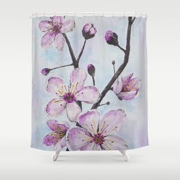 Cherry Blossoms I Shower Curtain