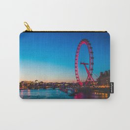 London Eye at Night | Europe UK City Urban Nightscape Sunset Photography Carry-All Pouch