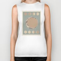 moon phases Biker Tanks featuring Phases of the Moon by Marilyn Foehrenbach