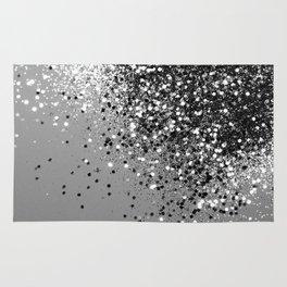 Sparkling Silver Gray Lady Glitter #1 #shiny #decor #art #society6 Rug
