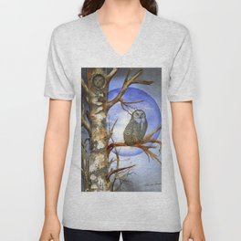 What a Hoot by Maureen Donovan Unisex V-Neck