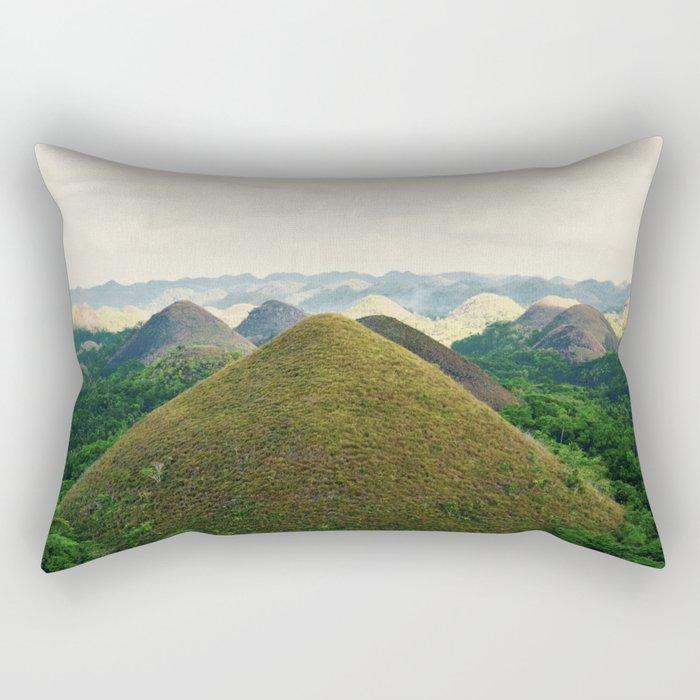 Chocolate Hills Rectangular Pillow