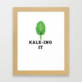 Kale-ing It Kale Art for Vegans Vegetarians Light Framed Art Print