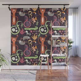Rain forest animals 002 Wall Mural