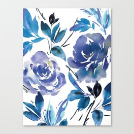 Royal Blue Garden 01 Canvas Print