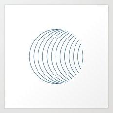 #352 Orbital – Geometry Daily Art Print