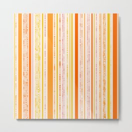 Summer Dotted Stripes Metal Print