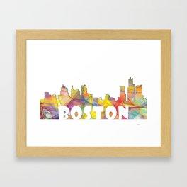 Massachusetts Skyline MCLR 2 Framed Art Print