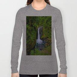 Columbia River Gorge Waterfall  Long Sleeve T-shirt