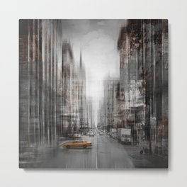 City-Art NYC 5th Avenue Metal Print