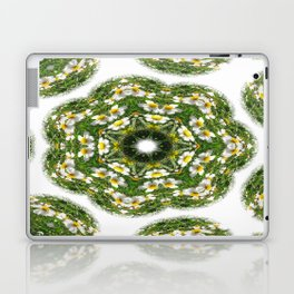 Little White Wildflower Kaleidoscope Art 2 Laptop & iPad Skin