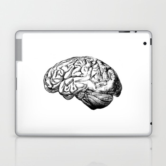 Brain Anatomy Laptop & iPad Skin