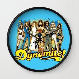 SuperWomen of the 70s - DyNoMite! Wall Clock