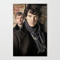 sherlock Canvas Prints featuring Sherlock  by SB Art Productions